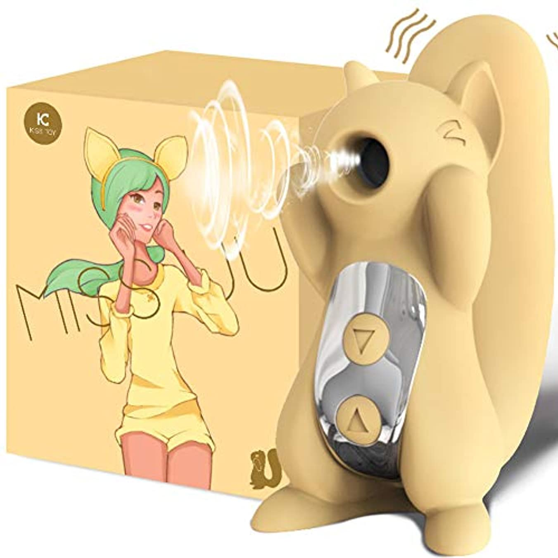 今後見かけ上インフレーションRabugoo 大人のおもちゃ 漫画形状膣吸引バイブレーターオーラルセックス吸引クリトリス刺激女性エロティックおもちゃ 黄