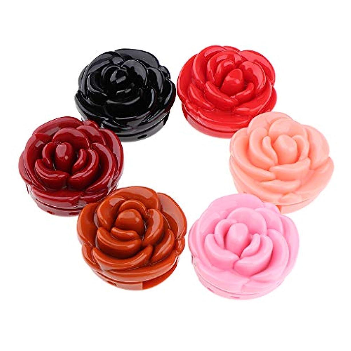 とげのある可動式添加剤防水口紅 リップクリーム 美容 化粧品 メイクアップツール 6色セット