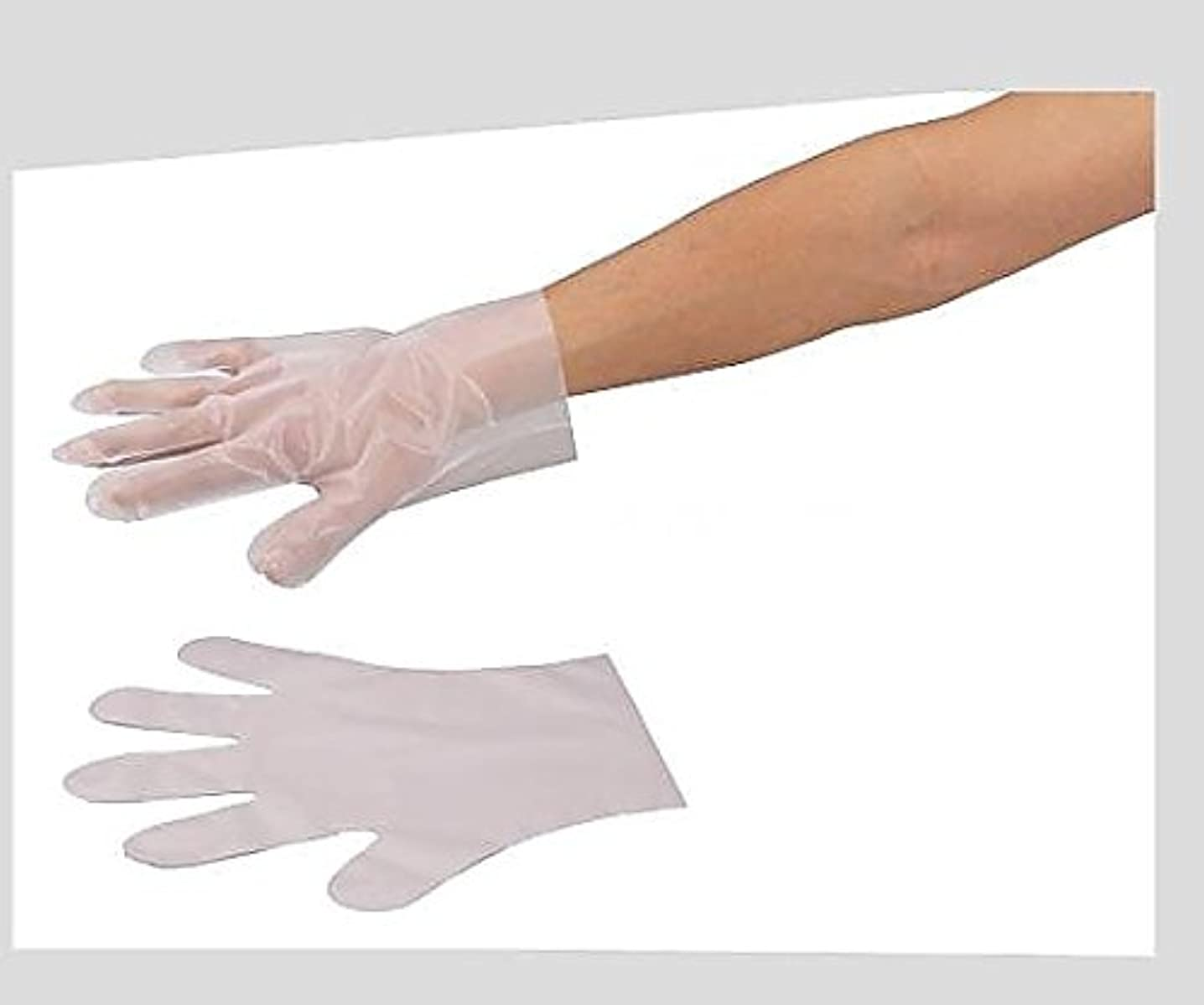 クランプストリーム国勢調査アズワン6-896-01サニメント手袋(PE厚手タイプ)エンボス付L100枚入