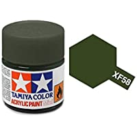XF58 MIN Olive Green - 10ml jar of Tamiya Color Mini Acrylic Paint