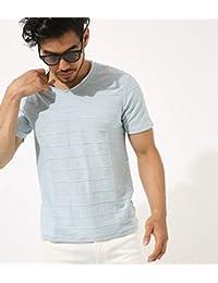(アズールバイマウジー) AZUL by moussy Tシャツ スラブタック 天竺 Vネック 半袖T メンズ 251BAD80-014F