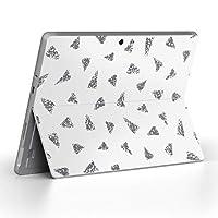 Surface go 専用スキンシール サーフェス go ノートブック ノートパソコン カバー ケース フィルム ステッカー アクセサリー 保護 三角 モノトーン グレー 012581