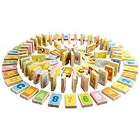 早期教育パズル ドミノ ビルディングブロック 子供用木製玩具 (色: イエロー、サイズ: 従来型)