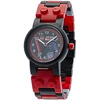 LEGO Watches and Clocks Girls 8020301 Year-Round Analog Quartz Red Star Wars Darth Vader Watch
