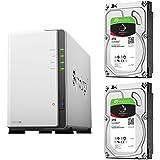 【NAS HDDセット】Synology DS218j & Seagate HDD [2ベイ / HDD IronWolf-3TBx2台同梱 / デュアルコアCPU搭載]