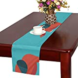 GGSXD テーブルランナー かわいい象 クロス 食卓カバー 麻綿製 欧米 おしゃれ 16 Inch X 72 Inch (40cm X 182cm) キッチン ダイニング ホーム デコレーション モダン リビング 洗える