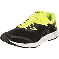 4dfcfa8d69ff63 asics Men s Amplica Black Silver Safety Yellow Running Shoe 9.5 Men US