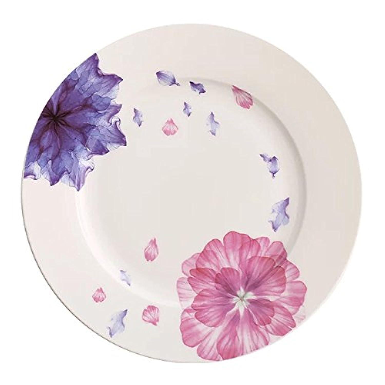 HOME AID フローラル8インチ ボーンチャイナデザート皿 ディナープレート 前菜 サラダプレート