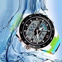 Xenia Men's Sports Watches Fashion Watches Waterproof Casual Quartz Watch Men's Digital Analogue Multifunction Military Watches Green