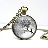Full Moon pendant Halloween Trick or Treat jewelry Glass [並行輸入品]
