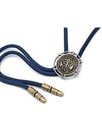 マリンモチーフメダルのループタイ (紐カラー:紺)