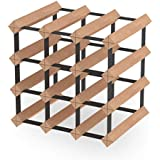12 Bottle Timber Wine Rack (Natural Finish)