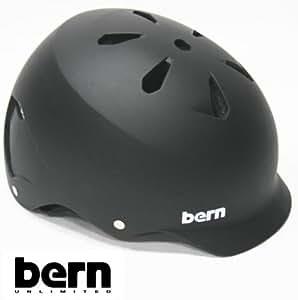 bern(バーン) bern ヘルメット WATTS オールシーズンモデル Matte Black ジャパンフィット ワッツ 自転車 BMX スケボーヘルメット バーン ヘルメット M(55.5-57cm)