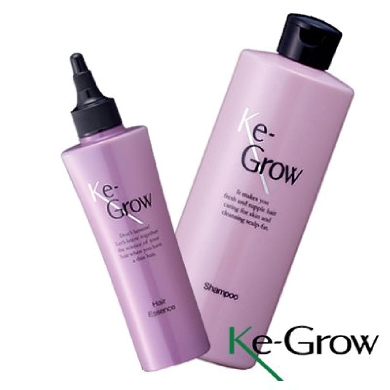 声を出して基本的なアメリカ薬用 ケイグロウ Ke-Grow 頭皮シャンプー 300ml & ヘアーエッセンス 150ml セット