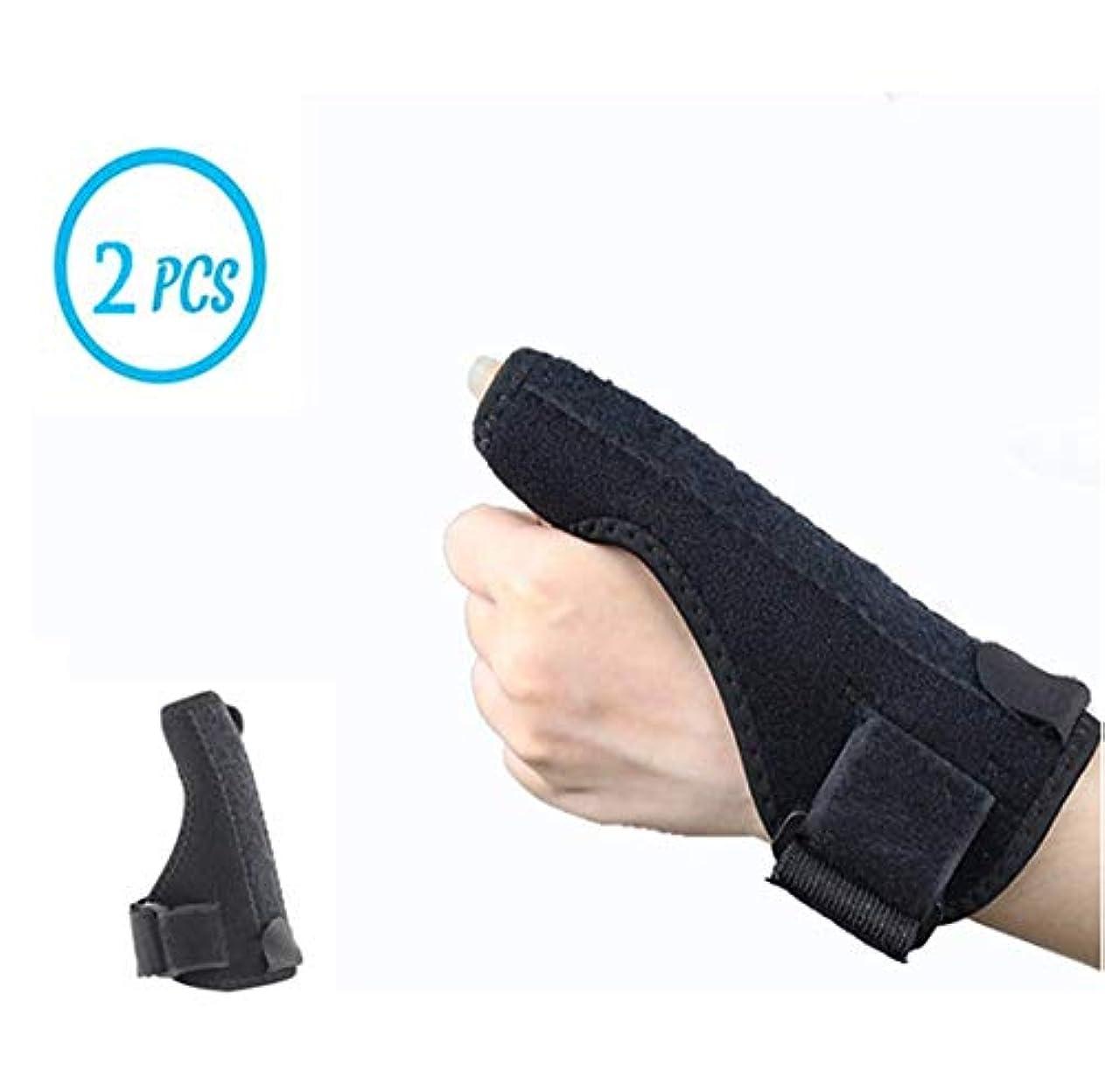 主婦必要一節親指支持、固定骨折手、ねんざ指、ユニバーサル左右の手、ワンサイズ