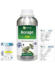 Borage (Borago officinalis) Natural Pure Undiluted Uncut Carrier Oil 2000ml/67 fl.oz.