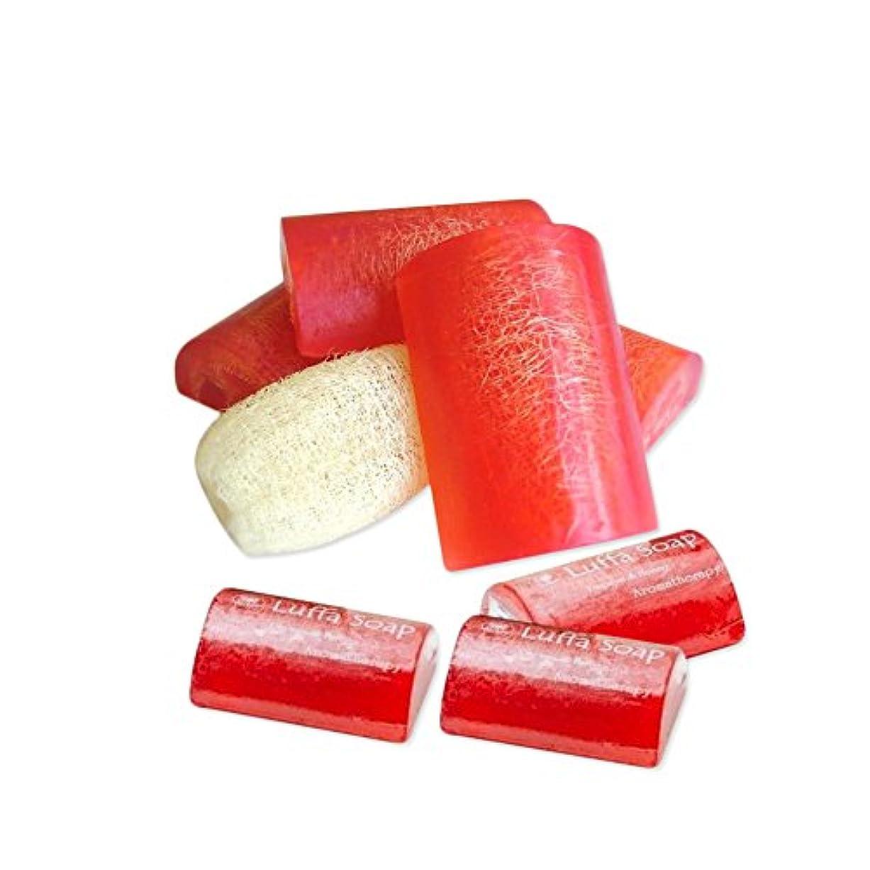 コードレスねじれメロンSoap Net Nature Handmade AromaPapaya Honey Scrub Herbal Natural Relaxing After Work & Sport A luffa middle the...