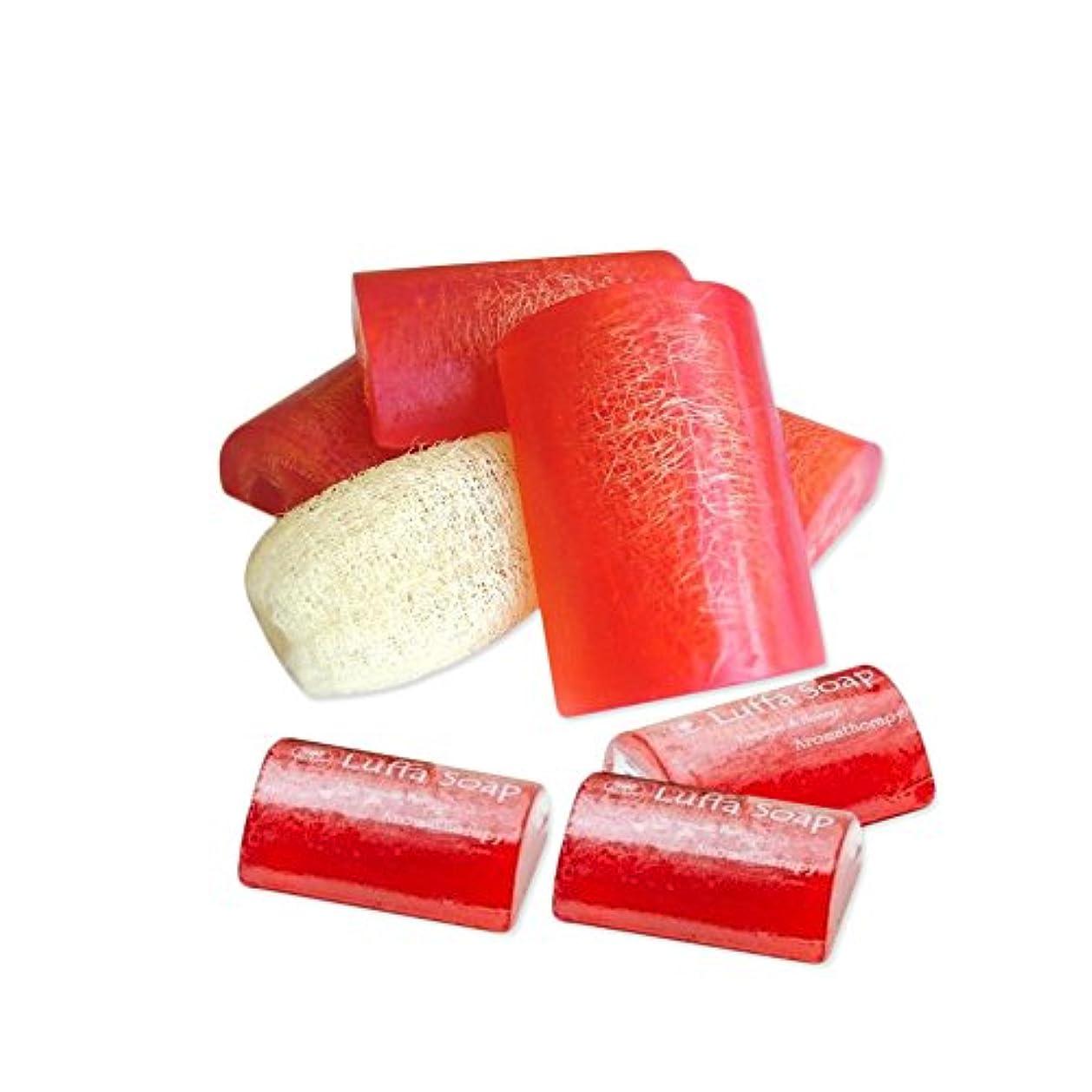 病的トレイ口頭Soap Net Nature Handmade AromaPapaya Honey Scrub Herbal Natural Relaxing After Work & Sport A luffa middle the...