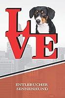 """Entlebucher Sennenhund: Dog Love Park Blood Sugar Diet Diary journal Notebook book is 120 pages 6""""x9"""""""