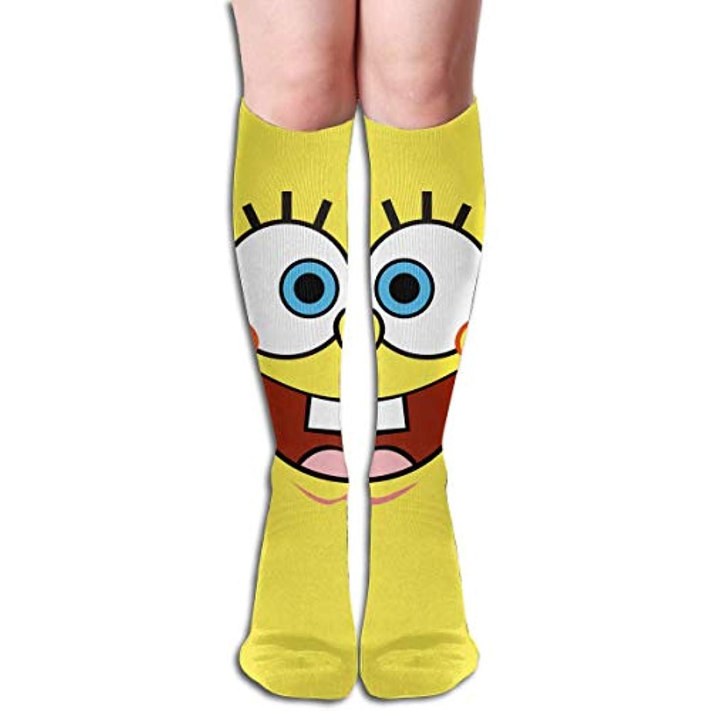 適性分析期待してqrriyスポンジボブスチームパンツイエローチューブストッキングレディース冬暖かい暖かいハイソックスブーツ靴下