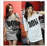 【Referica】 全2色 大きいサイズ 半袖 Tシャツ ロゴプリント レディース ロング丈Tシャツ フリーサイズ