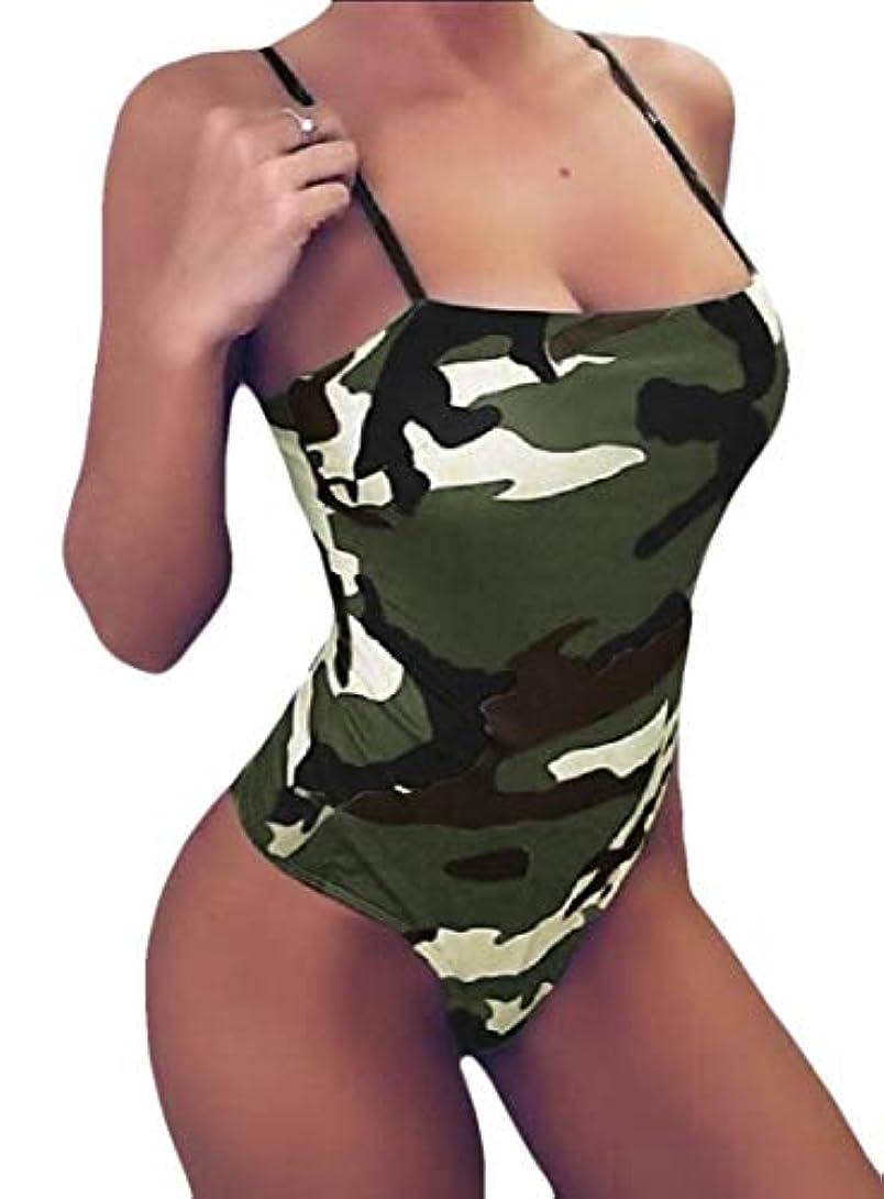 終わりロケーション概要Keaac Women's Sexy Bodysuit Camo Tank Top Sleeveless Bodycon Jumpsuit Romper