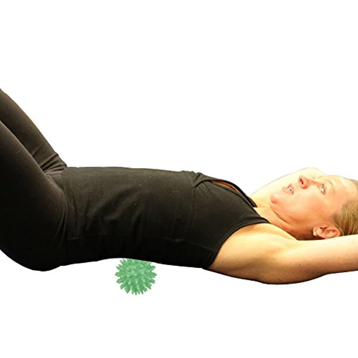 害灰すきchiwanji マッサージボール 触覚ボール 筋膜リリース 5.5cm 血液 循環 促進 マッサージ ツール 緑