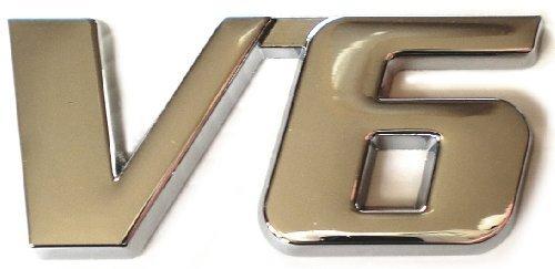 高級 エンブレム V6 3D立体 カー 金属 ステッカー シ...