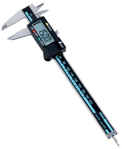 シンワ測定 デジタルノギス 大文字 ホールド機能付き 15cm 19975