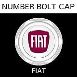 【FIAT】【ナンバープレート用】フィアット ナンバーボルトキャップ NUMBER BOLT CAP 3個入りセット タイプ1 ブラガ