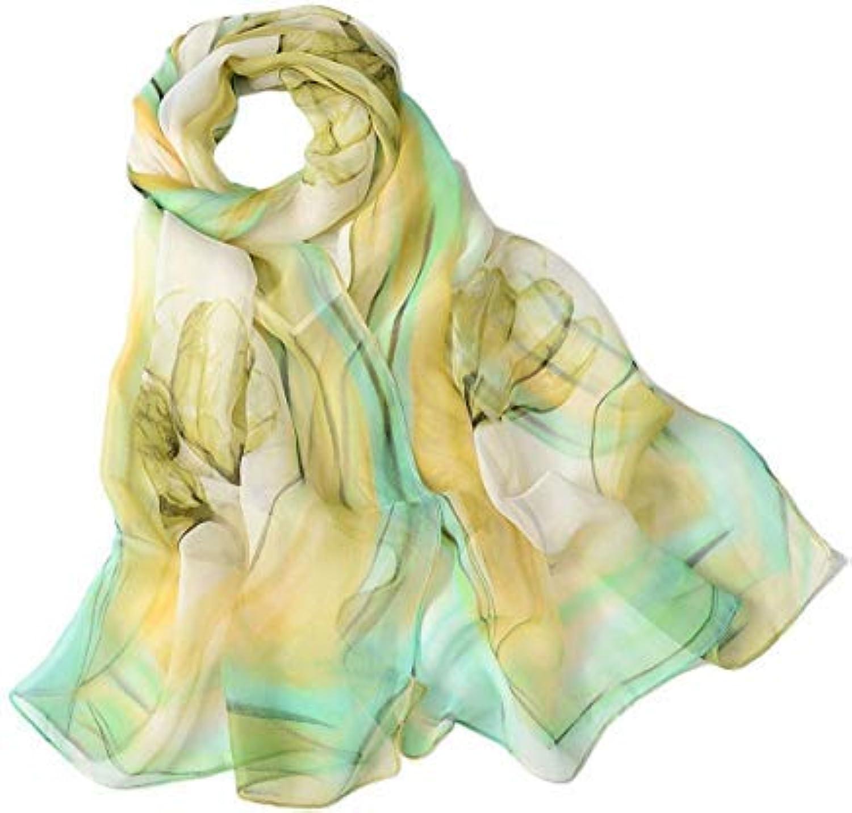 fenging3 スカーフ マフラー、ファッション女性ロングソフトラッププリントレディースショールシフォン