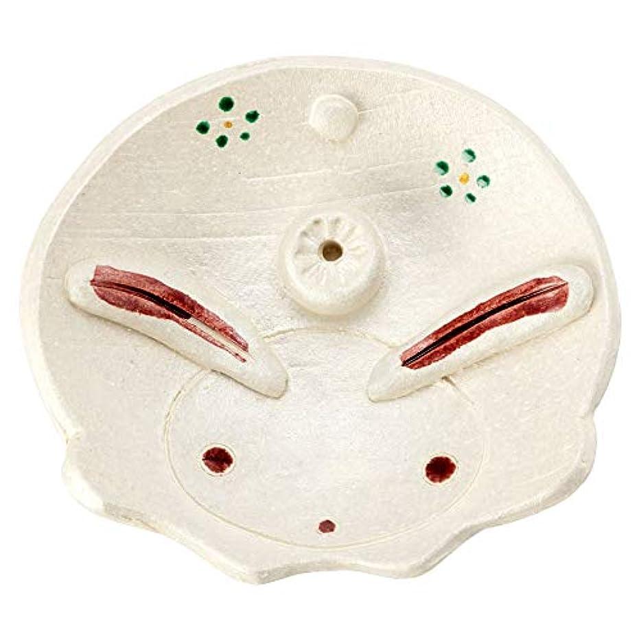 ひさみ窯民芸香立て兎 (K6207)瀬戸焼愛知県の工芸品Seto-yaki Incense stand, Aichi craft