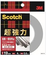 3M 超強力両面テープ 金属用・一般材料用(SKD-19) 19×4m ケース10巻入り
