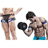 BFR Bands Occlusion Training Bands, PRO, 1 Set of Bands, Works for Arms OR Legs, Blood Flow Restriction Bands Help Gain Muscle Without Lifting Heavy Weights, Strong Elastic Strap + Quick-Release