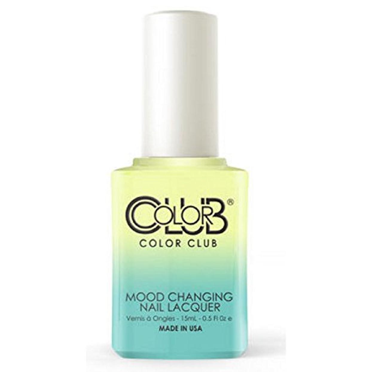 コンテストの頭の上ライムColor Club Mood Changing Nail Lacquer - Shine Theory - 15 mL / 0.5 fl oz