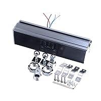 KESOTO 全3色 バイク オーディオサウンドシステム APPコントロール FMラジオステレオスピーカー - チタン