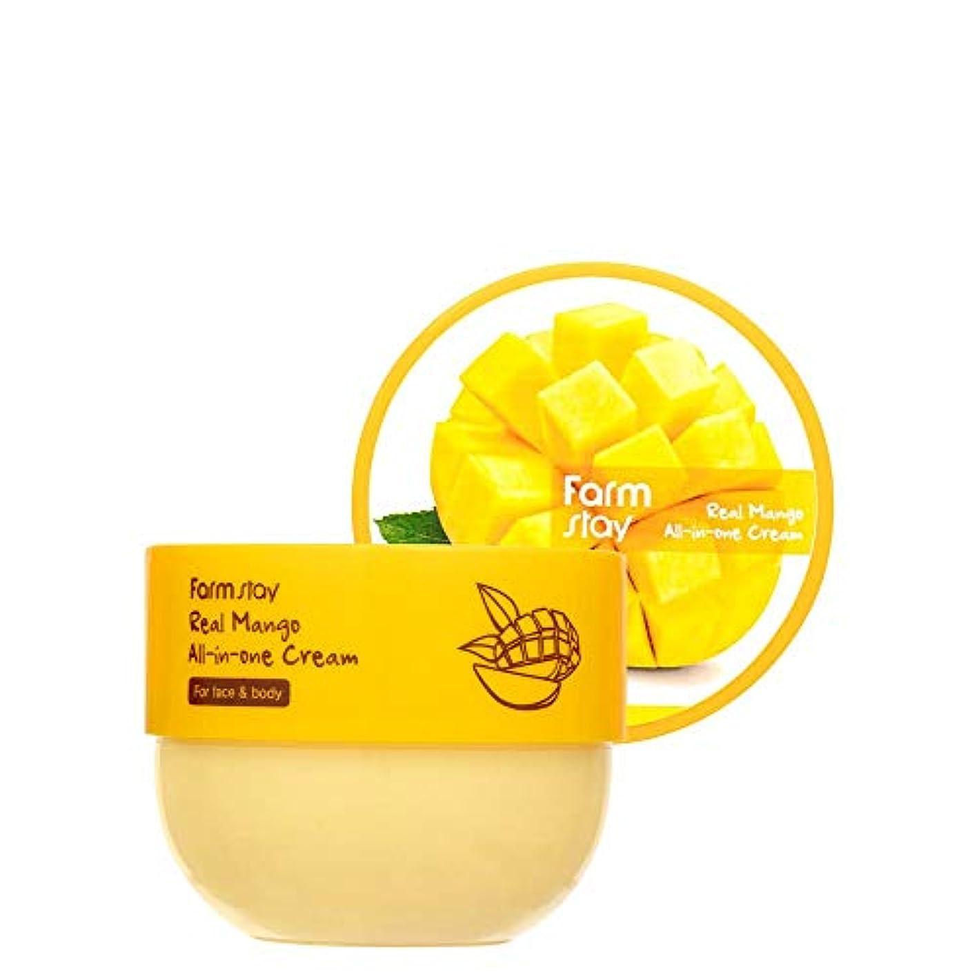 鉄道駅カヌー矛盾ファームステイ[Farm Stay] リアルマンゴーオールインワンクリーム 300ml / Real Mango All-in-One Cream