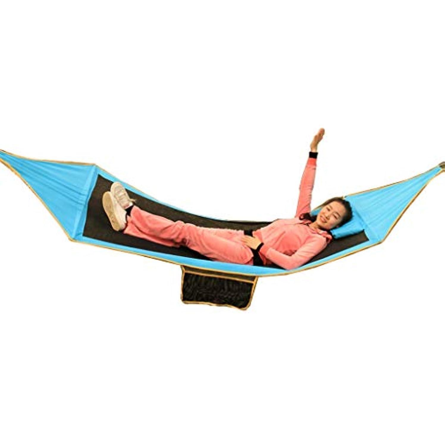 ミトンジェムラオス人ハンモック通気性の超軽量旅行キャンプ - 安い、ディスカウント価格150キログラムの重量、280センチ* 91センチ屋外シングルダブルアンチローリング屋外屋内睡眠キャンプポータブルスイングチェアレイジー UOMUN