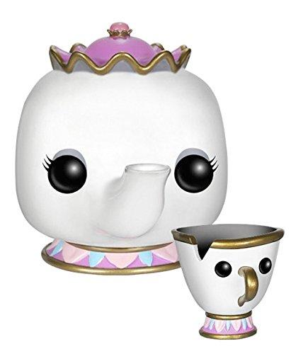 POP! ディズニー「美女と野獣」 ポット夫人&チップ 高さ約90mm プラスチック製 塗装済み完成品フィギュア