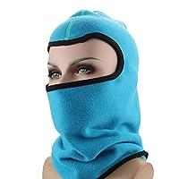 冬アウトドアスポーツキャップフリース暖かい帽子に乗っているヘッドギアマスク冷たい耳元のヘッドキャップ冬の帽子,スカイブルー,L(58-60cm)