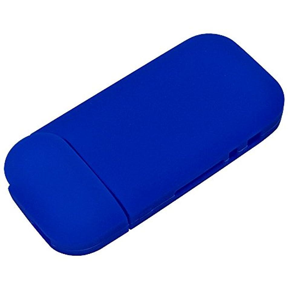 待つビジター職業ラスタバナナ IQOS 2.4 Plus ケース/カバー シリコン 薄型 ブルー アイコス 電子タバコケース RBIQ057