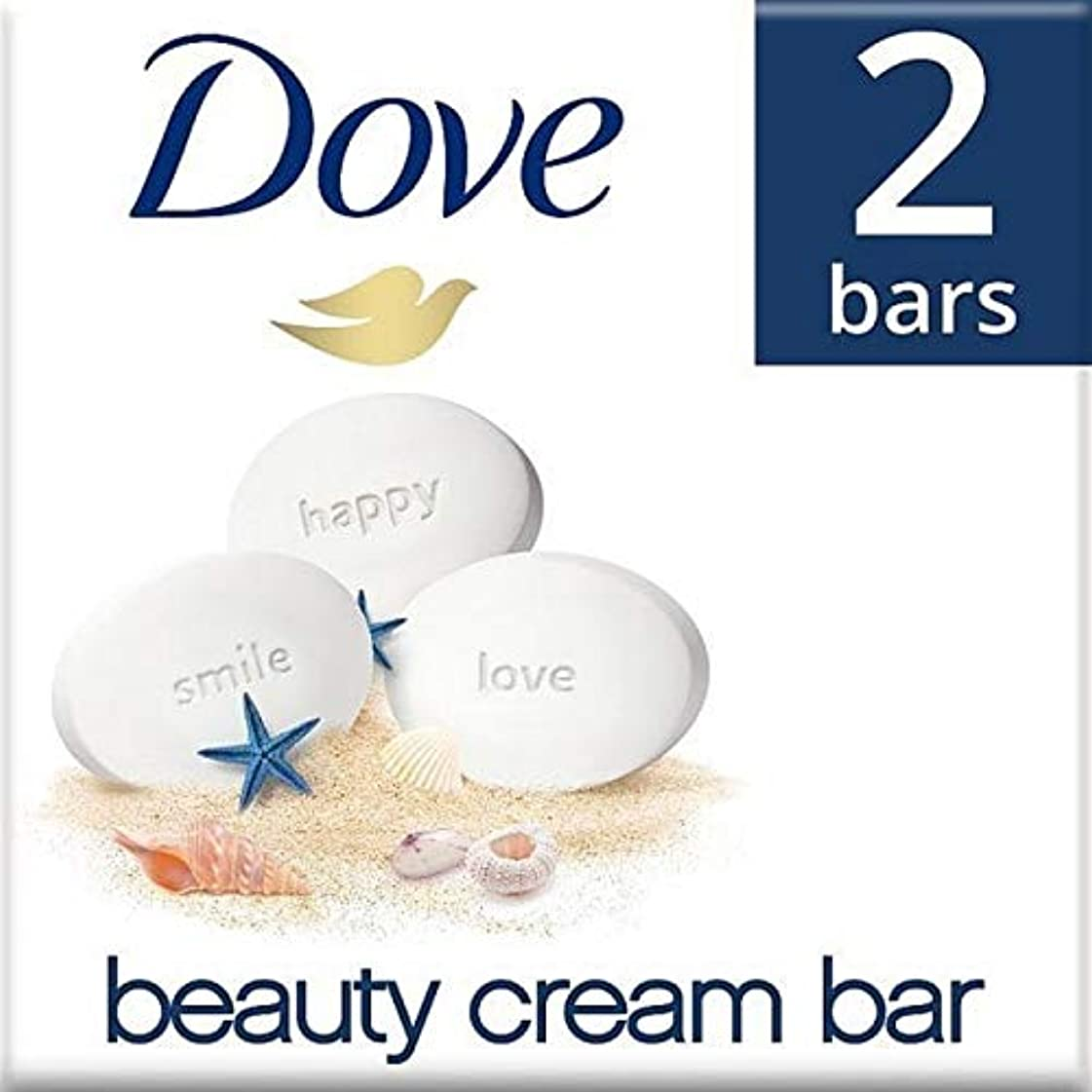 [Dove ] 鳩元美容クリーム石鹸2×100グラム - Dove Original Beauty Cream Soap Bar 2 x 100g [並行輸入品]