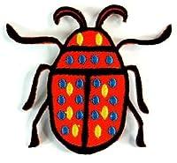 【ノーブランド品】 昆虫 生き物 カミキリムシ  アイロンワッペン 刺繍 パッチワッペン