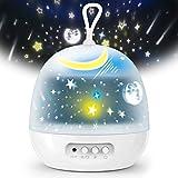 Delicacy 投影ランプ スタープロジェクター 星空ライト 寝かしつけ用おもちゃ 4セット投影映画フィルムー ナイトライト ベッドサイドランプ 360°回転 8モード 多色変更可能 インテリアランプ USB/電池兼用 子供プレゼント 誕生日ギフト ホームパーティー飾り