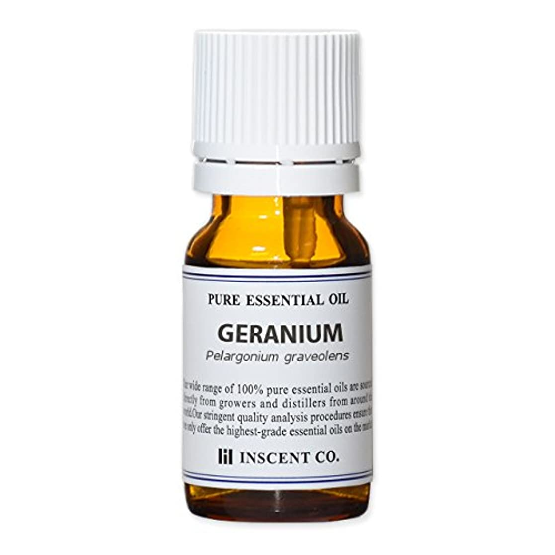 ゼラニウム 10ml インセント アロマオイル AEAJ 表示基準適合認定精油