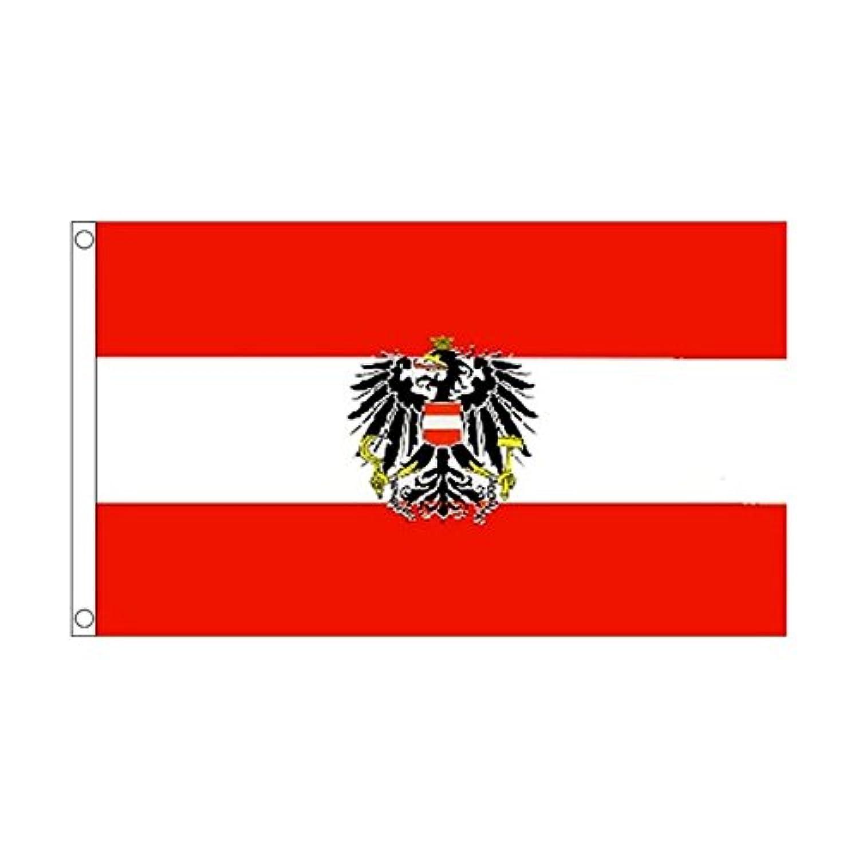 国旗 オーストリア 共和国 国章 90cmx150cm 特大フラッグ【ノーブランド品】