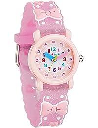 [チックタック] TICKTOCK キッズ腕時計 クオーツ アナログ表示 子供 ガールズ ウォッチ (B) 子供の日 入学 通学 入園 通園 新学期 誕生日 お祝い プレゼント (蝶結びーピンク) [並行輸入品]