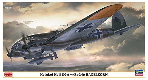 ハセガワ 1/72 ドイツ空軍 ハインケルHe111H-6 w/Bv246 ハーゲルコルンプラモデル 02227の詳細を見る