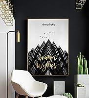 インテリアポスター インダストリアルスタイル白黒装飾画、ダイニングルーム、リビングルーム、モダンなミニマリスト、建築絵画、廊下のソファの壁画壁画、ゴールデンフレーム,壁飾 (Size : 40*60cm)