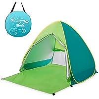 ワンタッチテント サンシェードテント 4色 BATTOP ポップアップビーチテント 2~3人用 95%UVカット 防水&通気 フルクローズ キャンプテント アウトドア コンパクト インスタントテント 収納バッグ付き